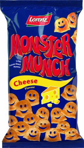 Lorenz Monster Munch Cheese Flavour, 2.6 Ounce (Pack of 25)