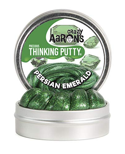 Crazy Aaron's Thinking Putty 1.6 oz Precious Gems - Persian Emerald - Bright Green - Never Dries Out