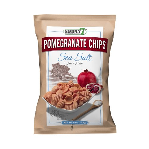 Simply7 Pomegranate Chips, Sea Salt, 4-Ounce bags