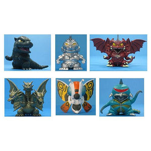 Godzilla Chibi Super Deformed Mini Figure 6-Pack