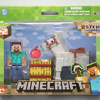 Minecraft Steve with White Horse Figure Pack