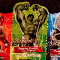 The Avengers Popping Candy with Lollipop: Pack of 3