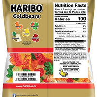 Haribo Gummi Candy, Original Gold-Bears, 5-Ounce Bags (Pack of 12)