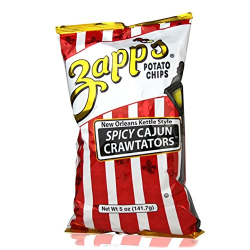 Zapp's New Orleans Kettle Style Potato Chips 5oz Bags (Pack of 4) (Spicy Cajun Crawtators)