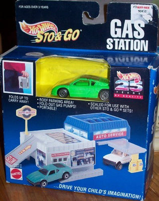 HOT WHEELS STO & GO GAS STATION