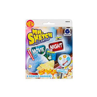 Mr. Sketch 1898305 Scented Markers, Chisel-Tip, Movie Night Colors, 6-Count