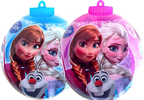 Disney Frozen Christmas Ornaments Decorate Your Own Ornament Filled with Candy and Stickers 4oz (2)