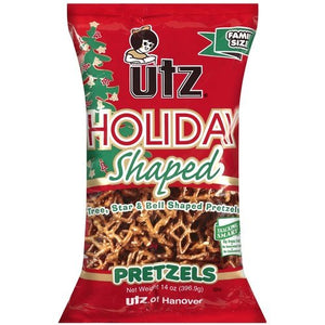 UTZ Holiday Shaped Pretzels - Star, Tree & Bell Shaped - 3 Pack