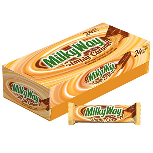 MILKY WAY Simply Caramel Milk Chocolate Singles Size Candy Bars 1.91-Ounce Bar 24-Count Box