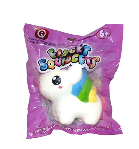 Fidget Squidgets Smiling Rainbow Unicorn Stress Ball