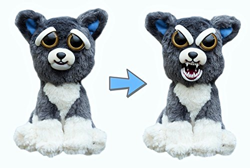 "Feisty Pets: Sammy Suckerpunch- Adorable 8.5"" Plush Stuffed Dog That Turns Feisty With A Squeeze"