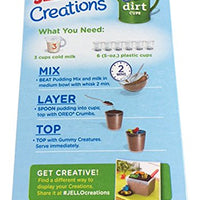 Jell-o Creations Dessert Kit Oreo Dirt cups- 2 Boxes