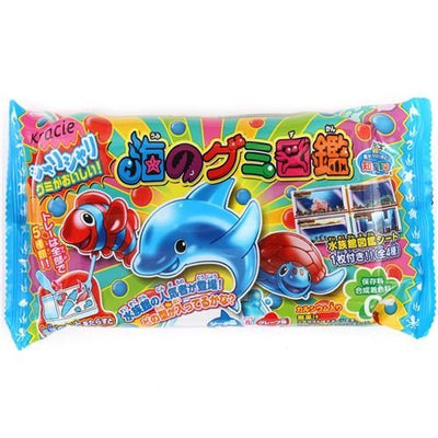 Gummy sea animals Kracie Popin' Cookin' DIY candy kit