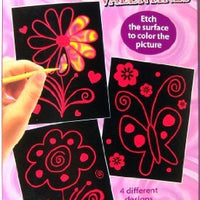 Etch Art Valentines Flower & Butterfly