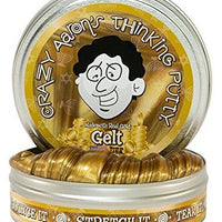 Crazy Aaron's Thinking Putty, 3.2 Ounce, Made with Real Gold Gelt