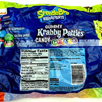 SpongeBob SquarePants Gummy Krabby Patties Candy Colors, 6.34 oz Bag in a Gift Box