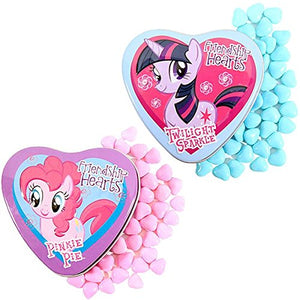 Boston America My Little Pony Friendship Hearts Rainbow Dash, Pinkie Pie & Twilight Sparkle 18 Candy Tins
