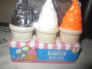 Ice Cream Scented Bubbles 3 Pack