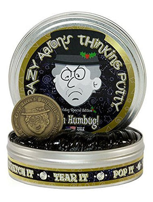 Crazy Aaron's Thinking Putty, 3.2 Ounce, Holiday Special Edition Bah Humbug