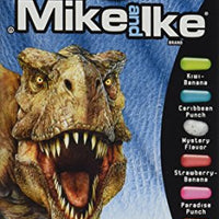 Mike and Ike Jurassic World Tropical Fruits Chewy Fruit Flavored Candies, 5 Oz Box.