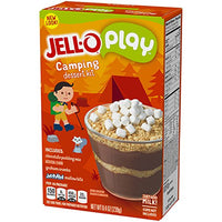 JELL-O Play Camping S'Mores Creations Pudding Dessert Kit (8.4 oz Boxes, Pack of 6)