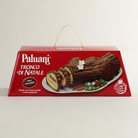 Paluani Tronco Di Natale Log Cake Filled with Hazelnut Creme and Custard, 750g, Italy