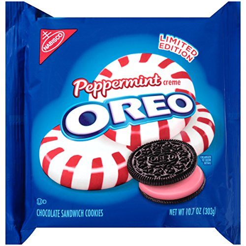 Oreo Sandwich Cookies, Peppermint, 10.7 Ounce