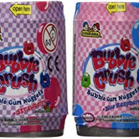 Bubble Mania Bubble Crush Bubble Gum Nuggets Assorted Fruit Flavors 1.98oz each (Pack of 12)