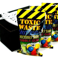 Toxic Waste Short Circuits Sour Bubble Gum, 3.2oz/pack, 3 Packs in a Gift Box