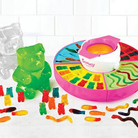 Nostalgia GCM600 Electric Giant Gummy Bear, Fish and Worm Maker Try with your own CBD Oil, Pink