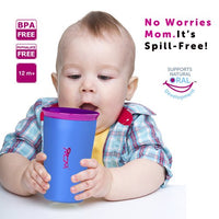 Wow Cup for Kids Original 360 Sippy Cup, Purple with Pnk Lid, 9 oz