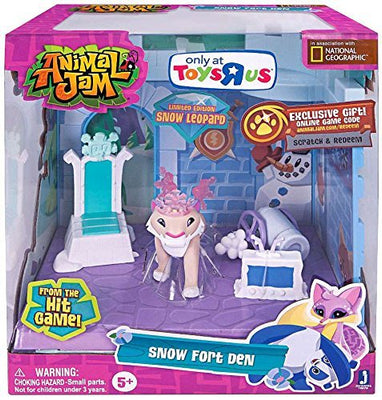 Animal Jam Snow Fort Den Exclusive Playset by Jazwares