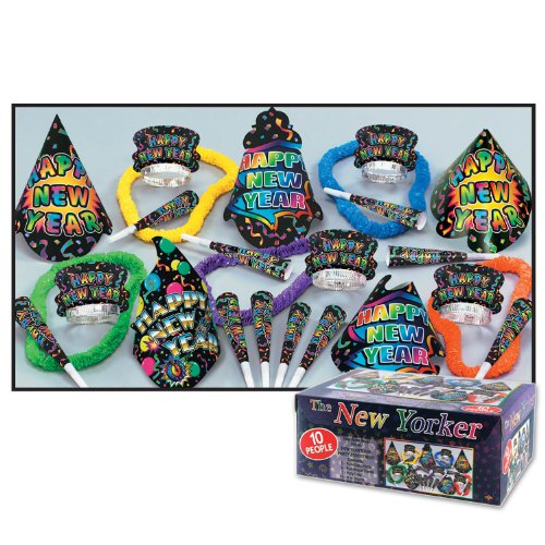 Beistle 88250-NR New Yorker Assortment for 10 People, (1 Assortment)