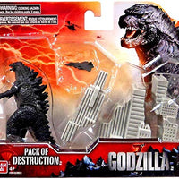 Godzilla Movie Pack of Destruction with Godzilla, Destructible Building, and Aircraft