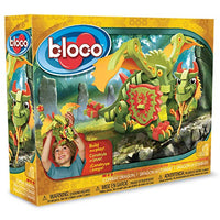 Bloco Toys Combat Dragon | STEM Toy | Fantasy Mythical Creatures | DIY Building Construction Set (155 Pieces)