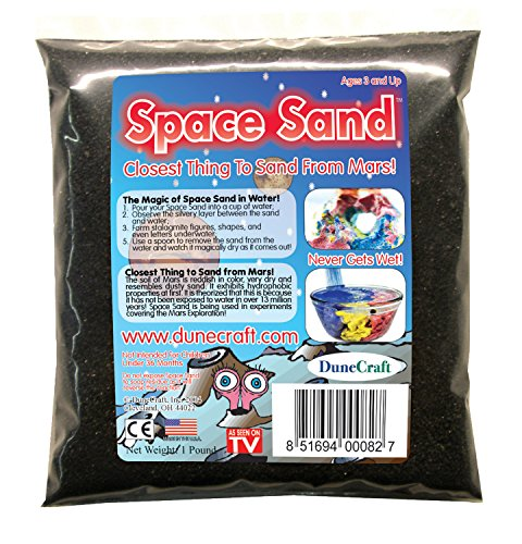 DuneCraft Space Sand Domed Terrarium, Black, 1 lb
