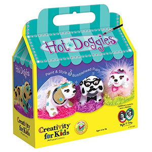 Creativity for Kids Haute Doggies Craft Kit - Makes 3 Bobble-Head Dogs - Teaches Beneficial Skills - For Ages 7 and Up