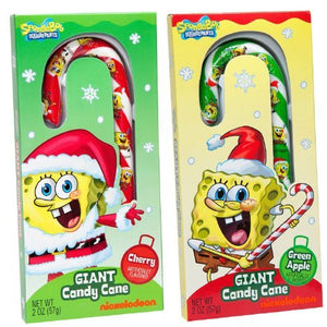 SpongeBob Christmas Giant Candy Cane - One Varied Multi Color