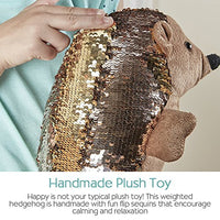 Creativity for Kids Sequin Pets Stuffed Animal - Happy the Hedgehog Plush Toy