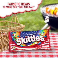 SKITTLES America Mix Red, White & Blue Patriotic Candy 14-Ounce Bag
