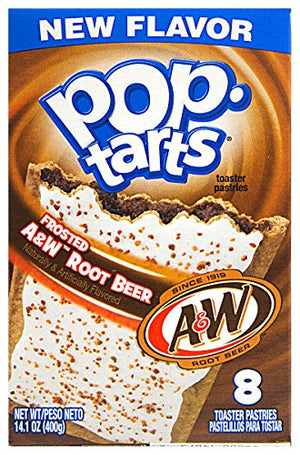 Kellogg's Pop Tarts Frosted A&W Root Beer Flavor 14.1 oz