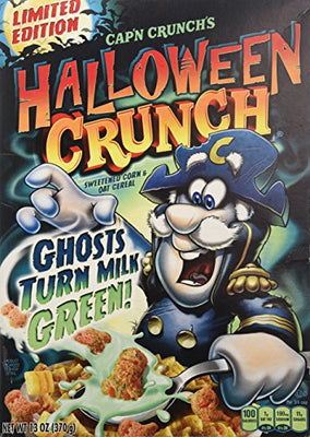 Cap'n Crunch's Halloween Crunch Ghosts Turn Milk GREEN! 13 oz box