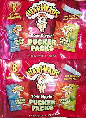 Warheads Sour Dippin' Pucker Packs (16 Pks) 4.8 Oz
