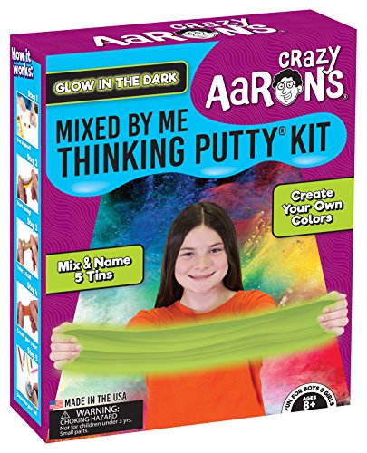 Crazy Aaron's Thinking Putty for Kids - DIY Special Effects Putty Kit - Glow-in-The-Dark, Sparkle, Heat-Sensitive - Includes Colored Pencils and Instructional Mat - Never Dries Out