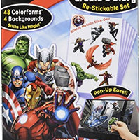 Colorforms Brand Avengers Create a Story Restickable Set