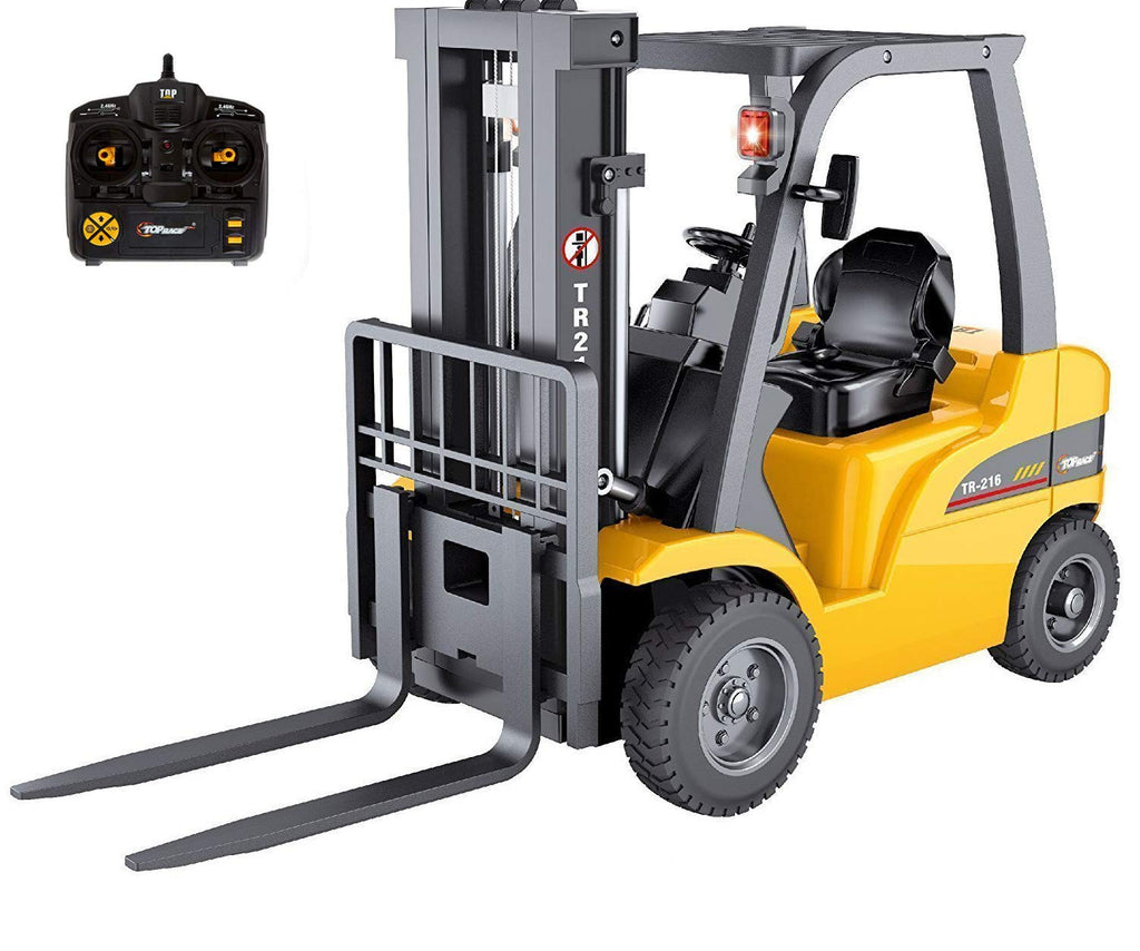 Top Race Jumbo Remote Control RC Forklift Construction Toys (TR-216)