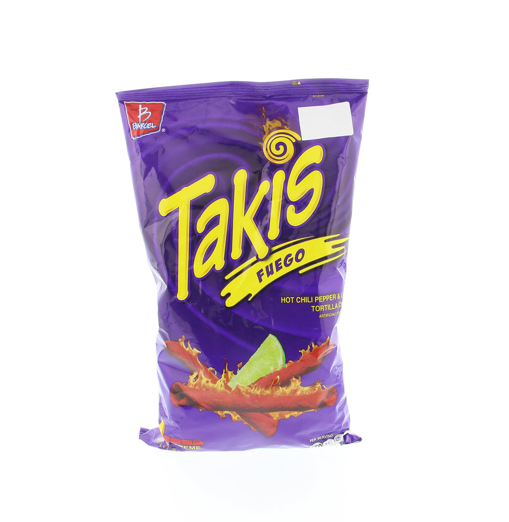 Takis Fuego Hot Chili Pepper & Lime Flavored Corn Snacks(One 9.9 oz. Bag)