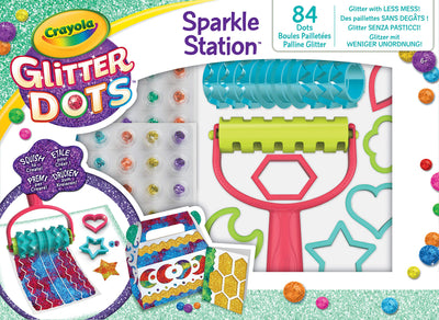 Crayola - Dots Sparkle Station, Set for Play and Create with Mouldable Glitter, Multicoloured, 04-0804