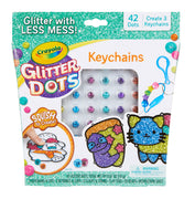 Crayola Glitter Dots DIY Keychains Craft Kit Age 5+