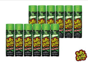 Glow in the Dark Silly String Spray Streamers - Party Fun Pack of 12 Cans of 3 Ounce Streamers
